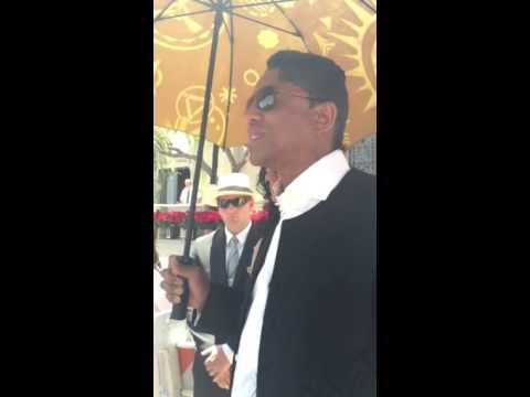 Michael Jackson's Brother Jermaine Jackson Speaks to Fans at Forest Lawn. June 25, 2015