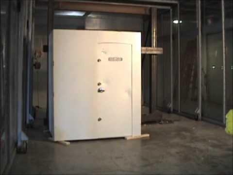 Tornado safe room impact test all weather safe room for Buy safe room