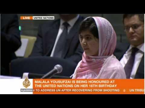 Malala Yousafzai Inspirational Speech at United Nations