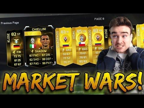 FIFA 15 MARKET WARS!!! CRAZY SQUAD BUILDER AND INSANE GAME Vs RossiHD