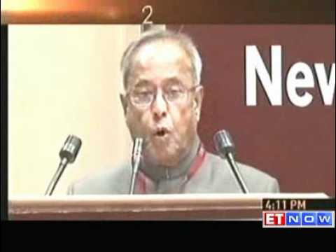 Aiming for 9.5% GDP growth - Pranab Mukherjee ET NOW