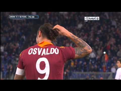 AS Roma 2 - 0 Torino FC - Gol di Pablo Osvaldo 1-0