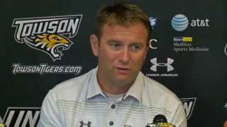 Towson Football post game comments following 27-24 loss to Maine