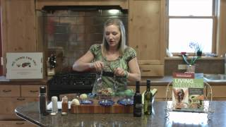 "Author of ""Living Wellness"" Darkenwald making Ethiopian Tomato Salad Ashley Darkenwald"