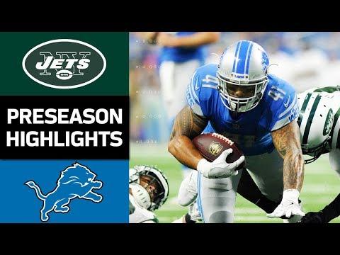 Jets Vs Lions Nfl Preseason Week 2 Game Highlights