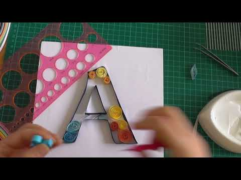 quilling letter A    quilling paper