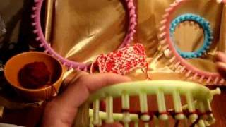 How to Loom Knit: Flat Panel on Round Loom