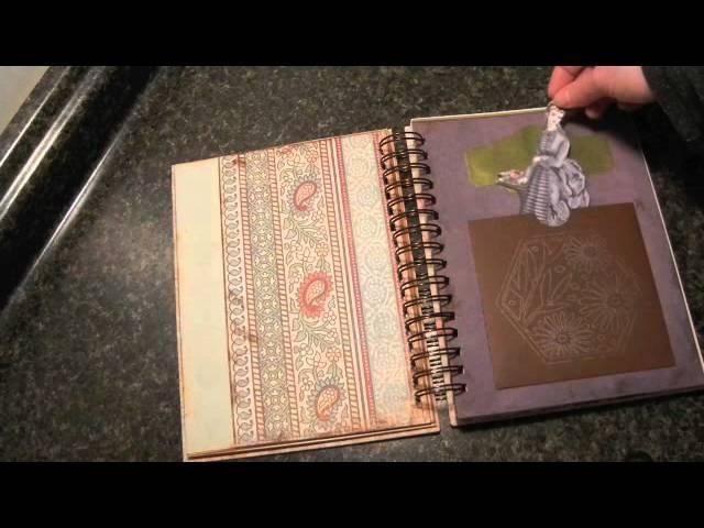 vintage journal, scrapbook, smashbook