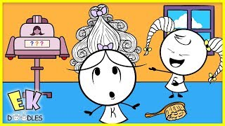 Emma & Kate's Crazy New Hairstyles! - EK Doodles Cute Animation
