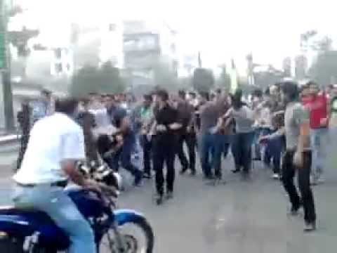 Man shot by Basij militia during post election protests - Iran Tehran 20 June 2009