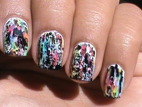 color acid wash no tools  a beginners nail art without