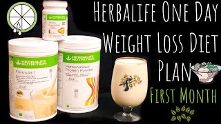 Herbalife Full Day Weight Lose Diet Plan 1st Month Program / Herbalife Weight Loss Diet Plan