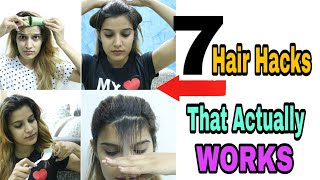7 EASY HAIR HACKS EVERY GIRL SHOULD KNOW | SUPER STYLE TIPS