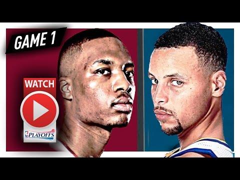 Stephen Curry vs Damian Lillard Game 1 Duel Highlights (2017 Playoffs) Warriors vs Blazers - SICK!