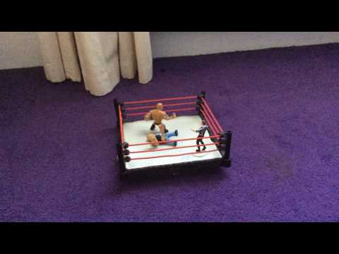 Stone cold vs The rock   Stopmotion   WWE