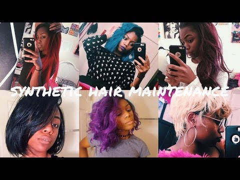 Synthetic Hair Maintenance | Straight, Curly, Wavy, Wigs vs Sew Ins (VERY DETAILED)