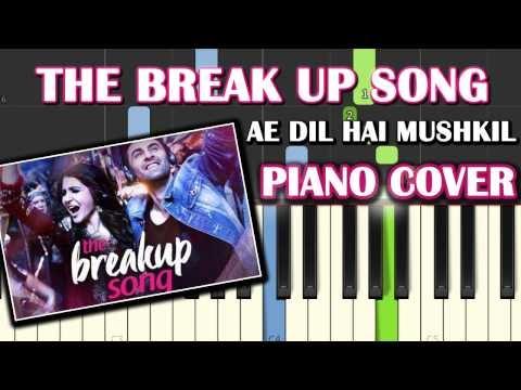The Breakup Song Ae Dil Hai Mushkil|Piano Chords Tutorial Lesson Instrumental Karaoke By Ganesh Kini
