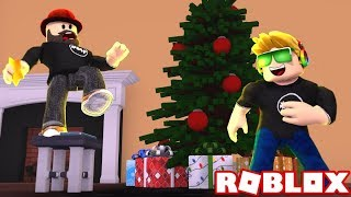 GETTING READY FOR CHRISTMAS WITH MY DAD in ROBLOX BLOXBURG