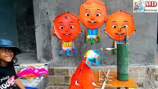 MEMBUAT BALON BISA TERBANG SENDIRI, BALON KARAKTER UPIN amp IPIN - BABY SHARK DANCE SONG
