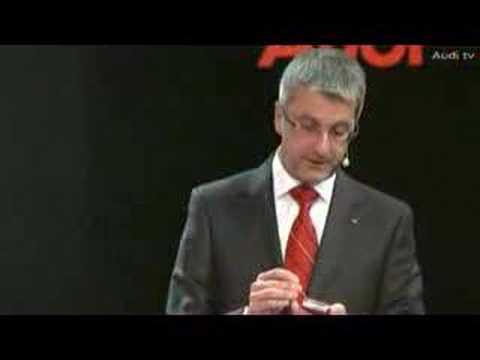 Rupert Stadler presents Audi A1 at tokyo motor show 2007