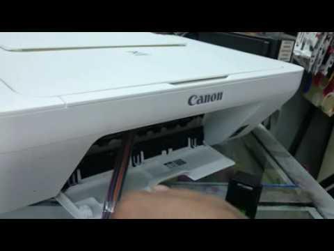 Retirar aire de mangueras impresora canon