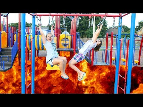 Floor IS LAVA at The Park Playground For Kids + ANDYS Coming Challenge