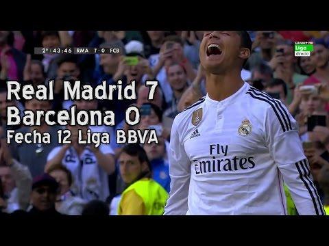 Real Madrid 7 Barcelona 0 - Liga BBVA Fecha 12