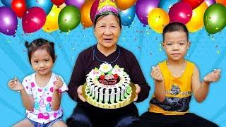 Trò Chơi Bé Tổ Chức Mừng Sinh Nhật Bà Nội 100 Tuổi - Bé Nhím TV - Đồ Chơi Trẻ Em Thiếu Nhi