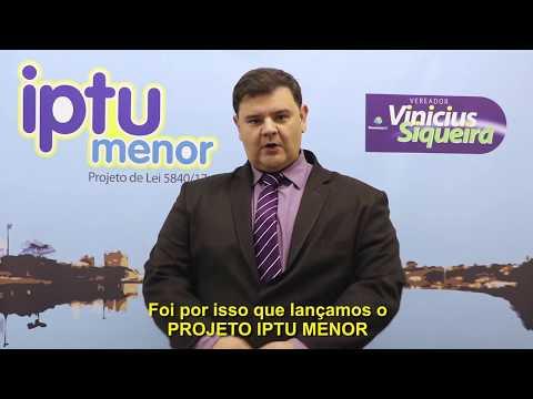 Vinicius Siqueira quer IPTU Menor