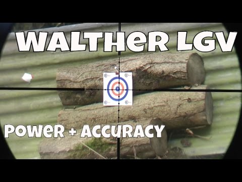 REVIEW: Walther LGV Spring Air Gun - Challenger Stock - Pellet Accuracy Test