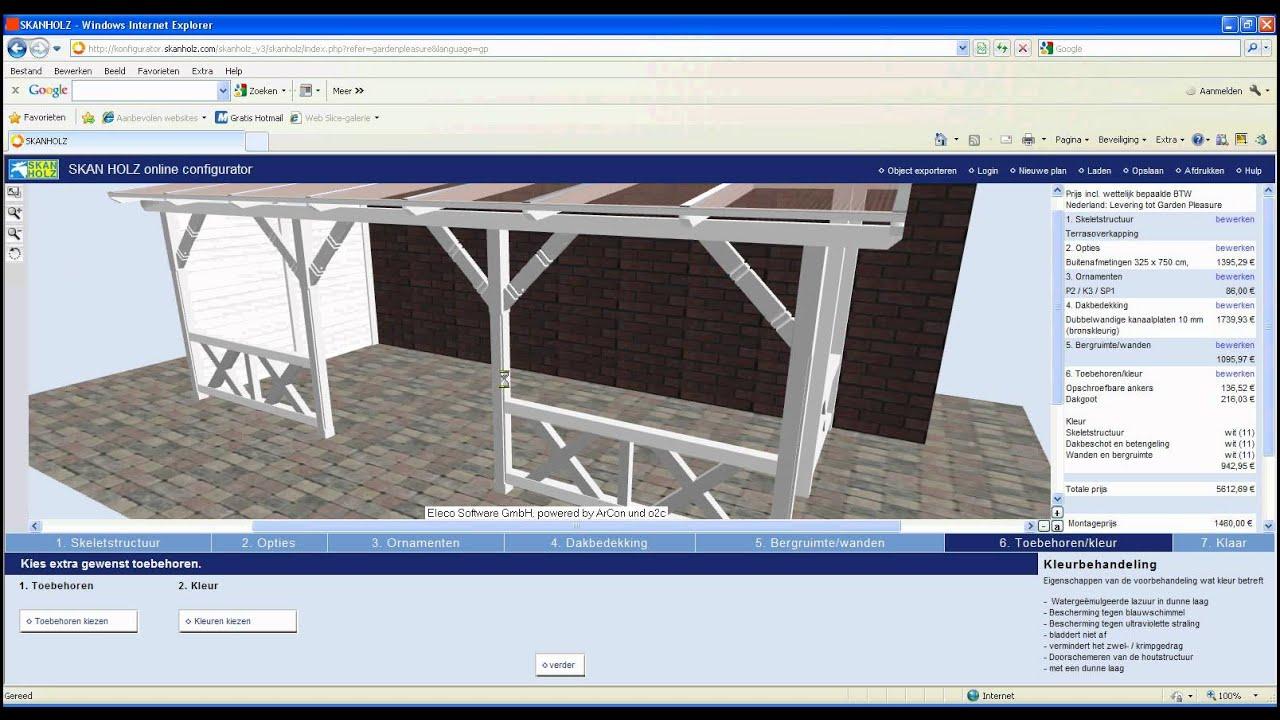 Veranda en terrasoverkapping zelf bouwen in 3D maatwerk veranda ...