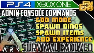 ARK ADMIN CONSOLE COMMANDS! (HOW TO SPAWN ITEMS)