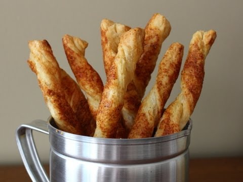 Cheese Straws - Cheesy Bread Sticks Recipe