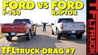 One Turbo Truck to Rule Them All! 2018 Ford F150 vs Raptor Drag Race