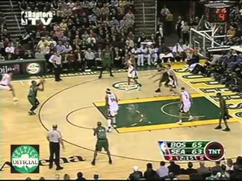 Paul Pierce 37 points vs Kevin Durant - Highlights vs Seattle SuperSonics 2007/2008