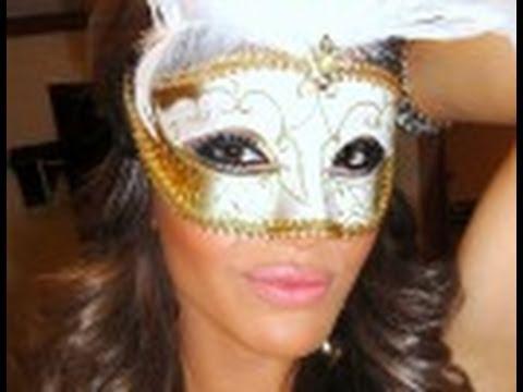 Make para baile de mascaras youtube - Mascaras para carnaval ...