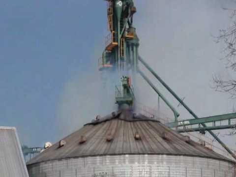 Viale: alarma por un incendio en un silo cargado de soja