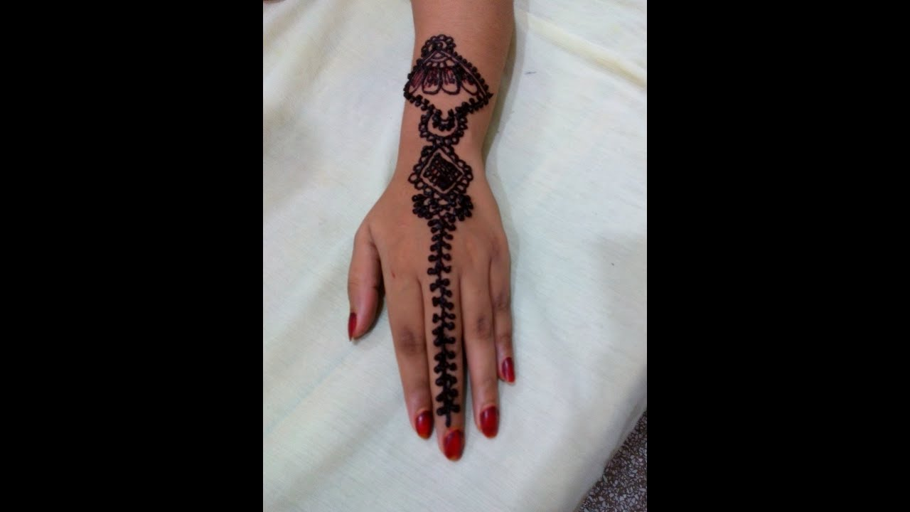 Simple Amp Cute Arabic Mehendi Design Front Hand  Mehndi Design Tutorials