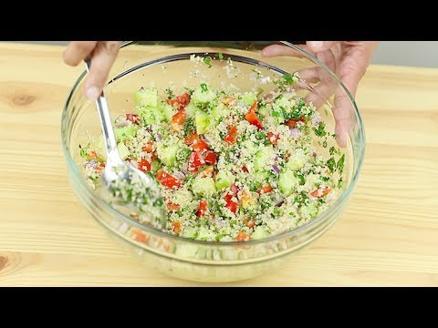 Couscous Salad | Healthy and Easy | Vegetables | Herbs