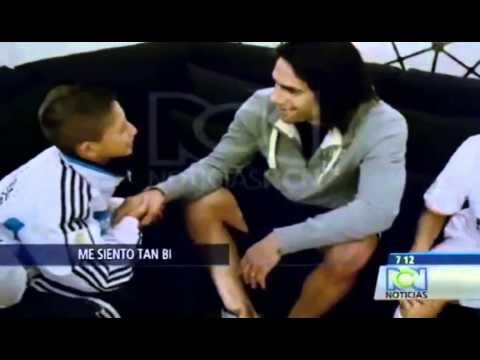 Emotivo mensaje de niño hizo llorar a Radamel Falcao