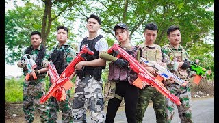 LTT Nerf War : Captain SEAL X Warriors Nerf Guns Fight Criminal Group Bandits Weapons Transporting