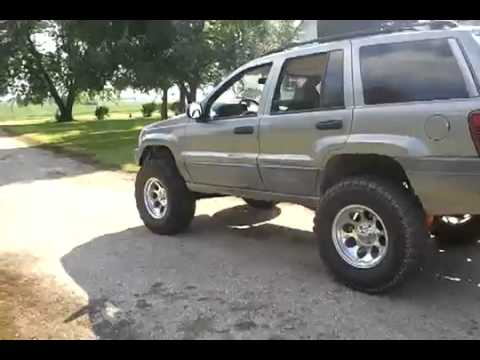 Lifted Jeep Grand Cherokee WJ 6 5 IRO Lift and 35 Tires - YouTube