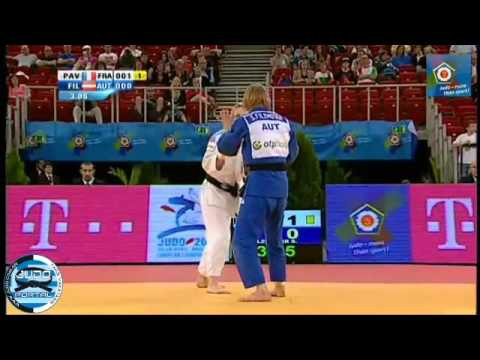 European Judo Championship Budapest 2013 Final -57kg  PAVIA  Automne (FRA) - FILZMOSER Sabrina (AUT)