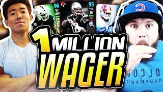 KAY VS TOKE! 1 MILLION COIN WAGER MATCH! INSANE GAME! MADDEN 17 ULTIMATE TEAM