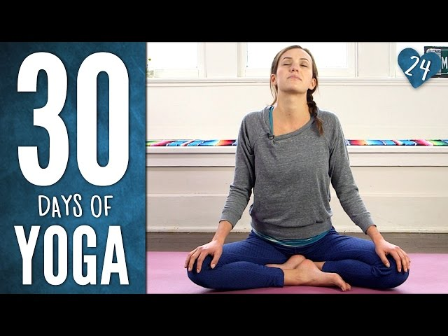 Day 24 - Gentle Yummy Yoga  - 30 Days of Yoga