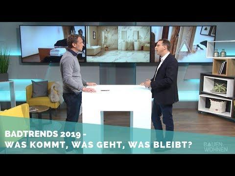 Die Badtrends 2019 - Fliesen, Farben, Formen