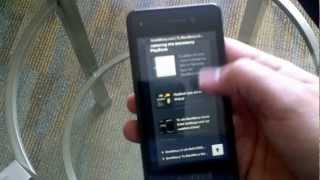 BlackBerry 10 Dev Alpha Unboxing and OS Tour [Greek language]