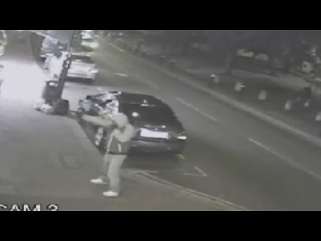 Shocking CCTV: Gunman shoots at National Crime Agency officers