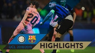 INTER 1-1 BARCELONA | HIGHLIGHTS | Matchday 04 - UEFA Champions League 2018/19
