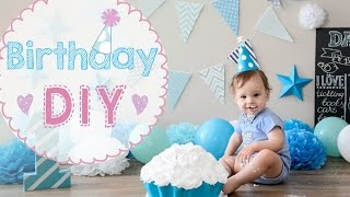 🎂 Baby Birthday 1 year party DIY | cake crash | how to make toddler BD party celebration awesome